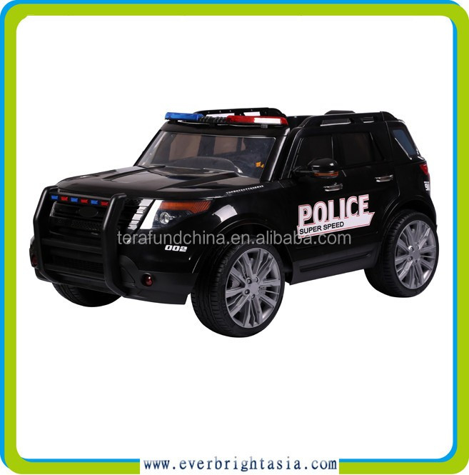 new model kids police ride on car