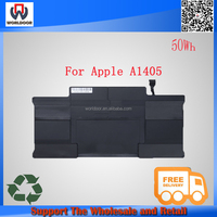 "Hot sales! New A1405 battery 7.3v 50wh Laptop Battery For Apple MacBook Pro 13"" A1369 A1466 MC503 MC504 notebook"