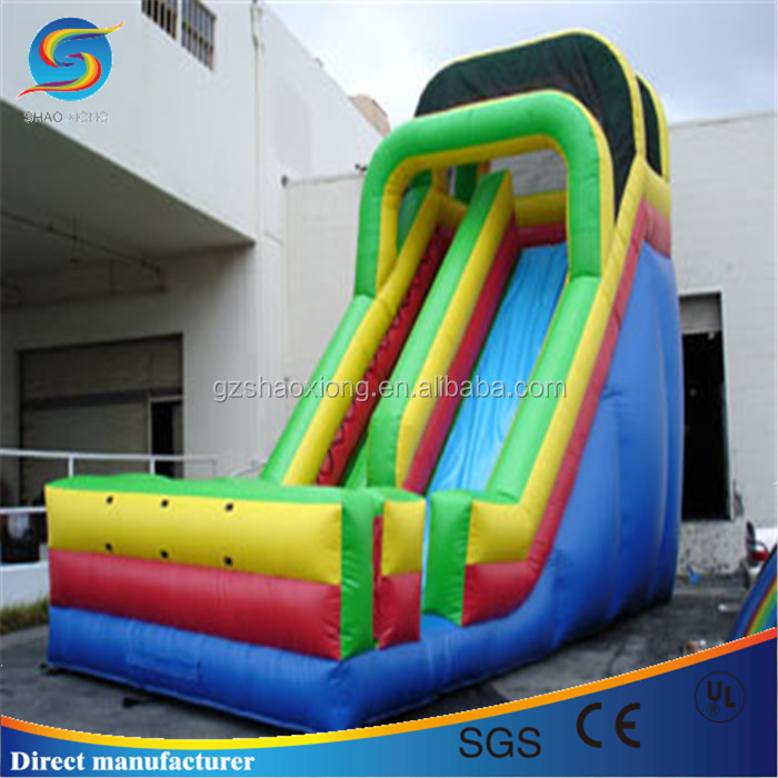 Inflatable rainbow slide, pvc inflatable slip and slide, used inflatable slide