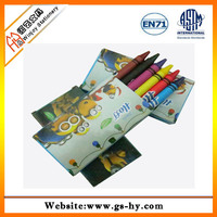 Promotional gift custom water soluble crayons for school, wax crayons pen set for kids sketch