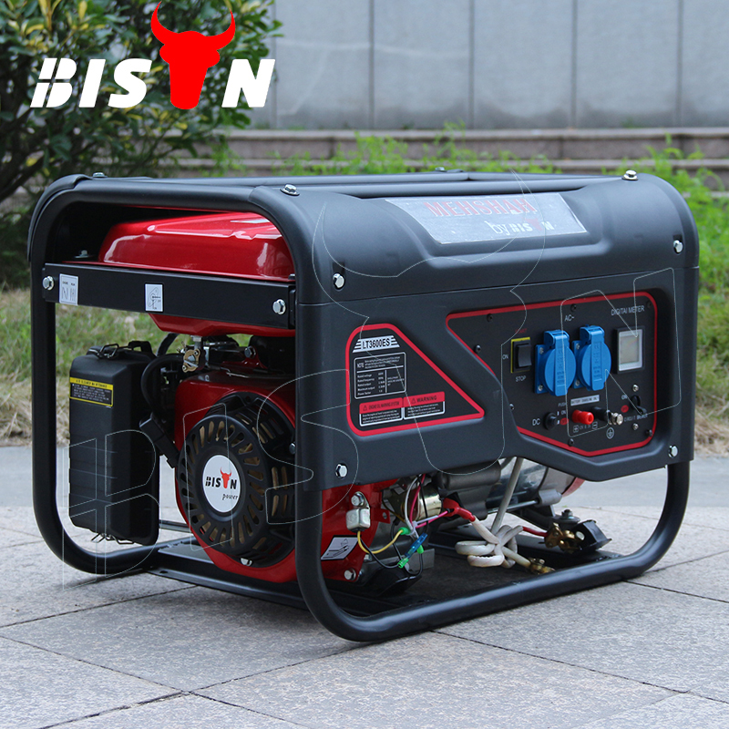 BISON (CHINA) BS3500L 2.8KW 2.8KVA Strong Frame AC Single Phase Portable Gasoline Welder and Generator
