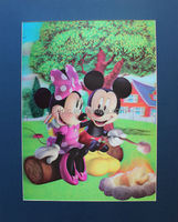 2014 New arrival High quality hot sale 3d lenticular picture of Minny&Mickey with papaer frame