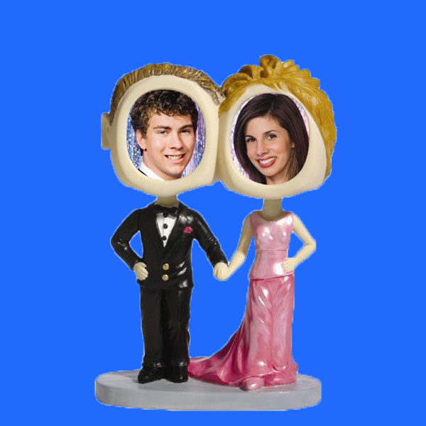New Design Wedding Couples Bobble Head Love Photo Frame