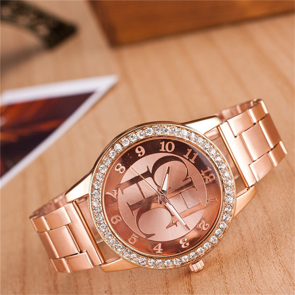 Watches Women Fashion Luxury Brand Ladies Gold Steel Quartz Watch Geneva Casual Crystal Rhinestone Wristwatches Relogio Feminino