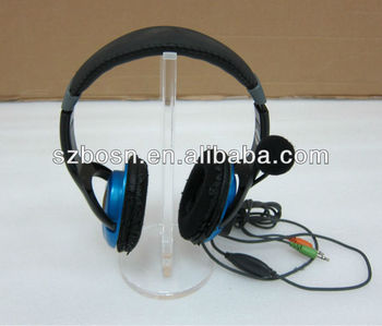 New-designed Acrylic Headphone Stand with a Round Base
