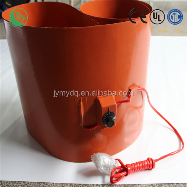 silicone coil heater for drum