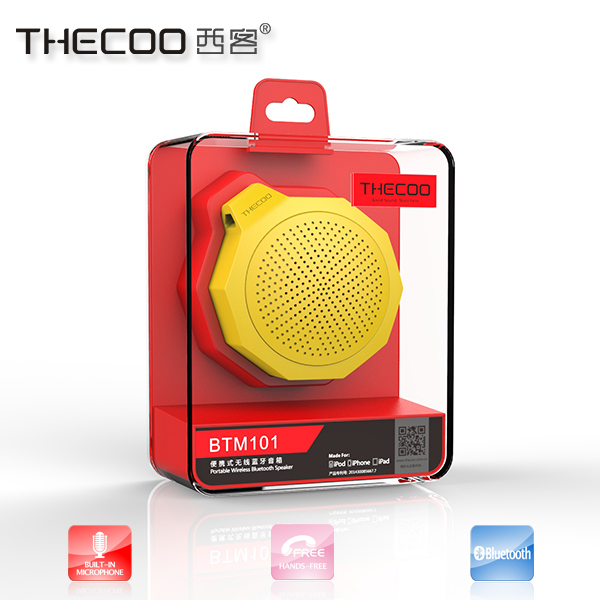 top sale best price portable ultra creative bluetooth 2.1 mini speakers with silicon round rubber edge