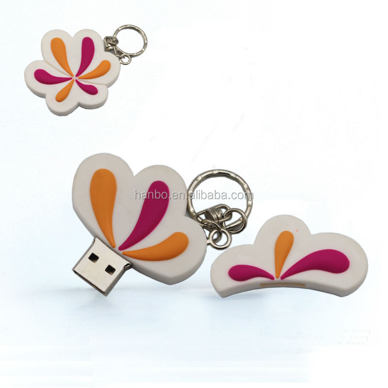 Sparkling heart shape flash memory crystal usb 3.0 flash drive