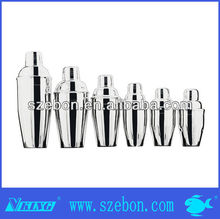 stainless steel cocktail shaker bar tools & equipment ,different kind of bar tools