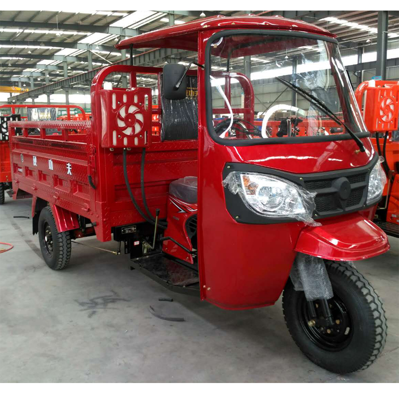 customized three wheel cargo tricycle/motorcycle with semi-closed cabin