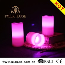 3 Set LED Candles Light Batteries Powered Unscented LED Tealight, Flameless Paraffin Wax Candle Lights 12 Color Changing Remote