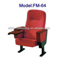 FM-64 Folding stadium seating chairs for sale with writing table