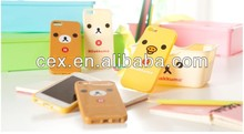 cartoon series korea Brown Bear back cover case cheap soft silicon for iphone5