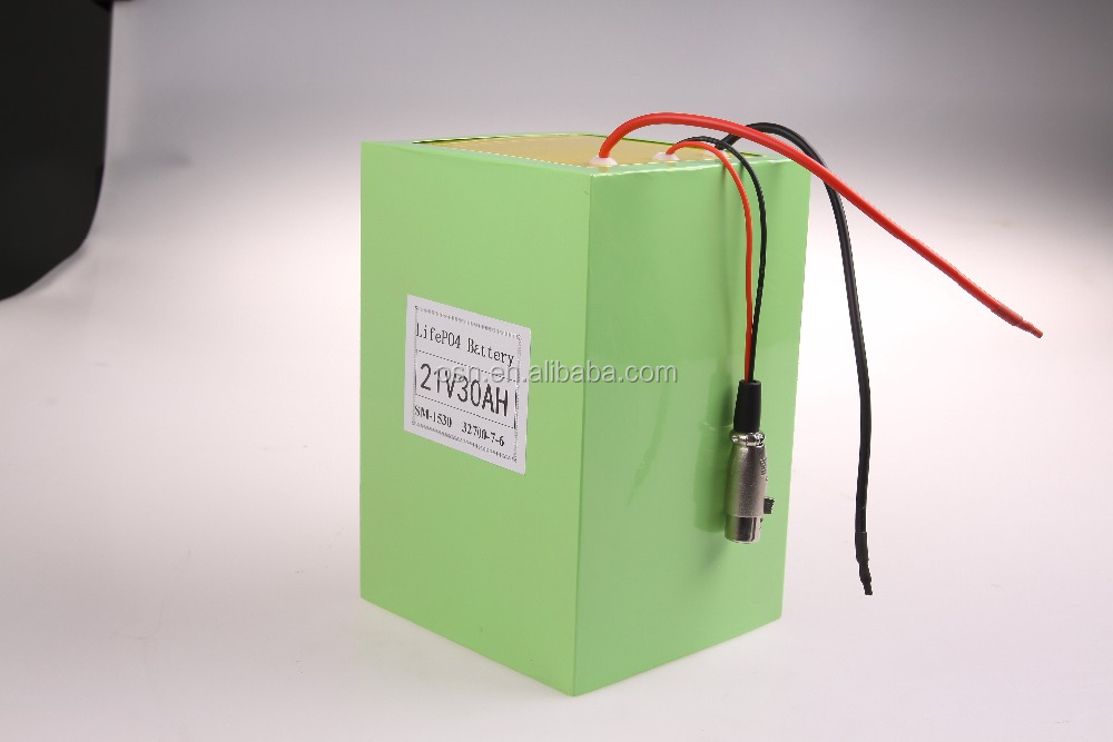 Electric Vehicle/Scootor Battery Pack Customized 21V 30Ah LiFePO4 Battery Pack Assembled By LiFePO4 32700 5Ah Cells