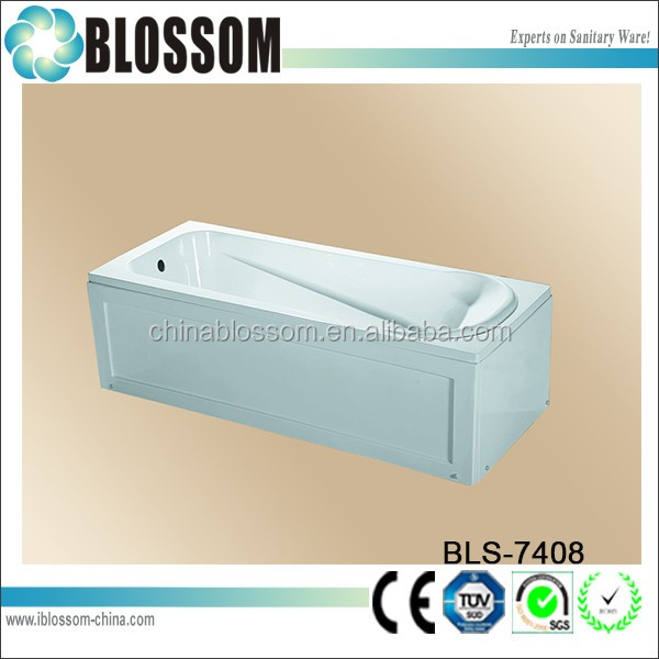 1200mm factory made new rectangle very small bathtubs