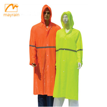 2018 police raincoat PVC reflective raincoat and rainwear