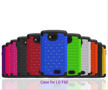 Shemax bling diamond hybrid phone case for lg optimus f60