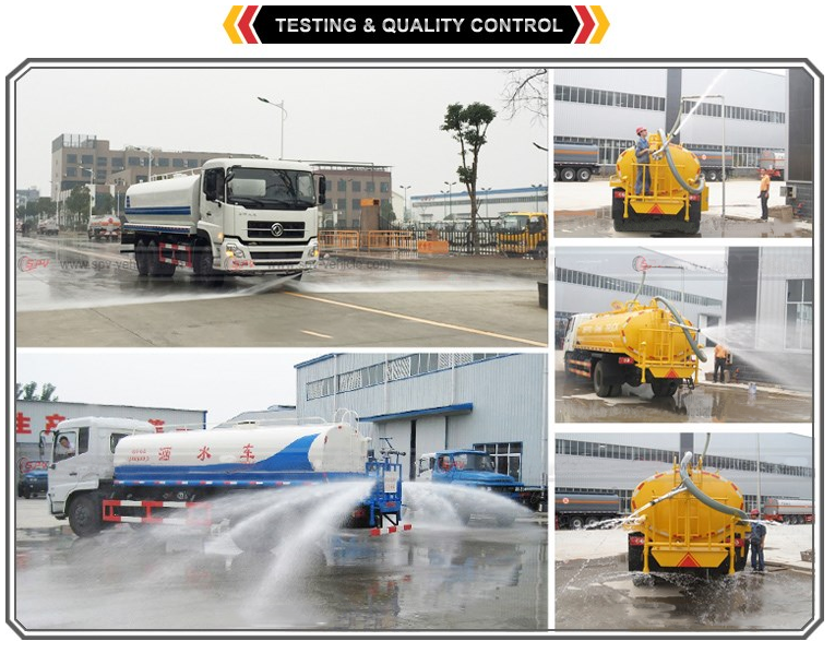 2 cube small water tank truck
