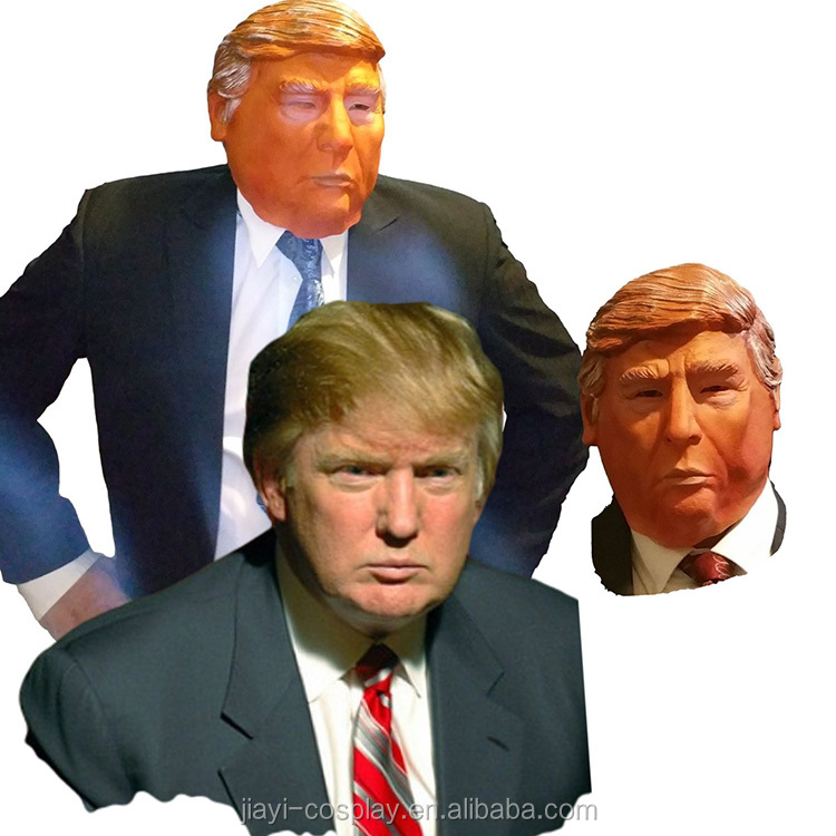 Realistic Donald Trump Ugly Halloween Carnival Party Head Latex Mask