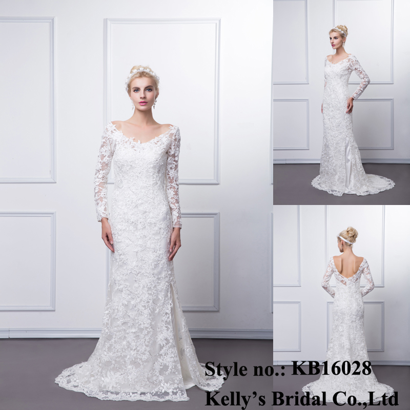 Alibaba top quality and 100% real picture long sleeves back up wedding dress/ vestido novia