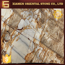 Roman impression yellow granite slabs indoor walls decoration for sale