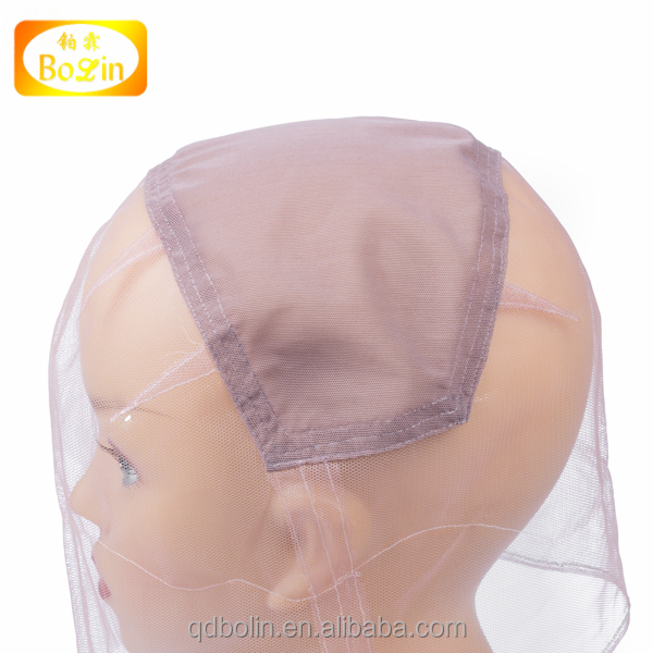 Whole sale silk lace cap for wig making,full silk cap lace wig,mesh weaving wig cap