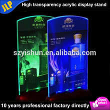 transparents acrylic menu holder led menu stand