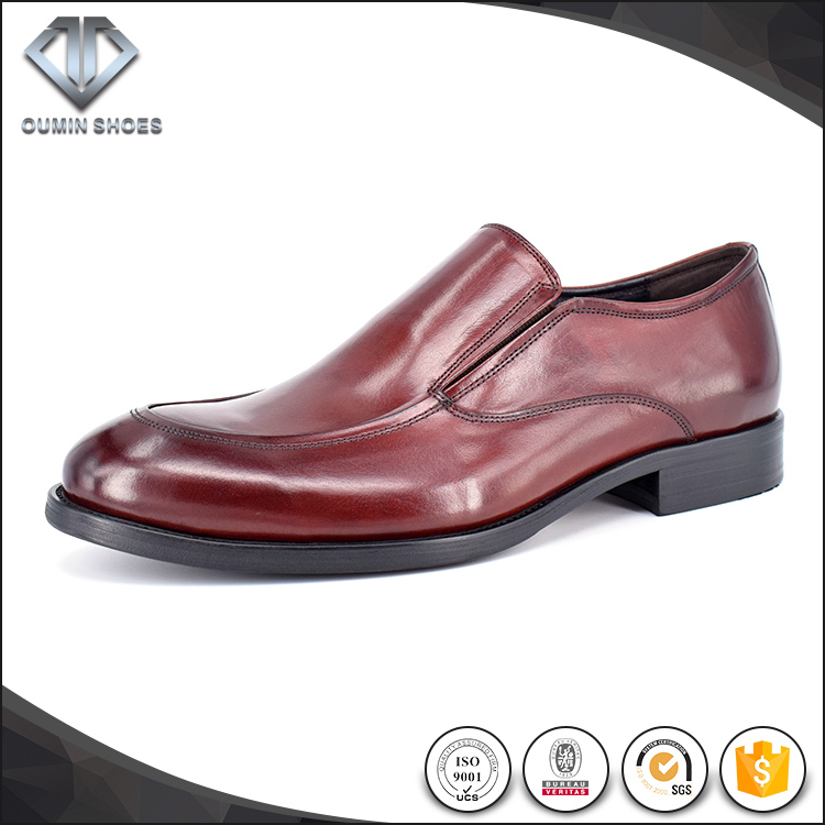 Vintage red Italian latest genuine leather slip-on loafers men shoes with high quality