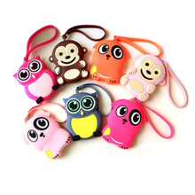 2D 3D cartoon anime silicon rubber keychain, soft PVC silicone plastic epoxy animal key buckle ring chain tag keyring keyholder
