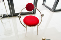 LC20 modern relax restaurant red fabric armchair