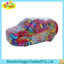 Car shaped packing bubble gum with big blast bubble relax chewing gum