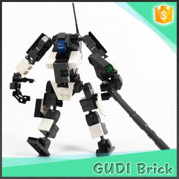 Creative 3 in 1 robotic warrior learning resources building ABS plastic toy 119 pcs for kids