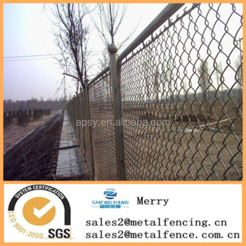 6' tall galvanized safety chain link fence net for animal protection
