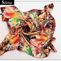scarfs pashmina cashmere digital print silk green and white scarf