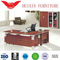 Wood traditional L shaped office desk,executive office table specifications