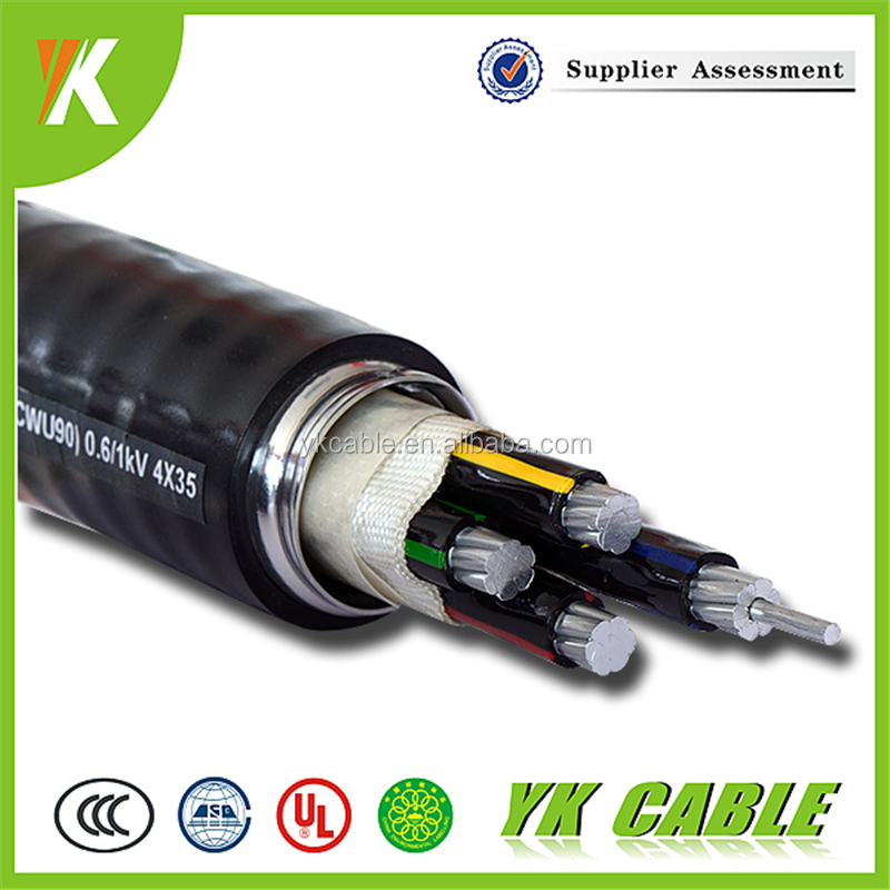 35 mm aluminum 4 cores xlpe insulated lsoh sheathed armoured power cables for sale