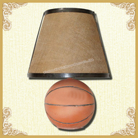 Table lamp set basketball design decorating table lamp
