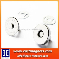 round neodymium good quality purse magnet/Ni, Zn coating
