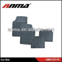 Universal rubber PVC car floor mat black and yellow car mats