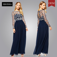 Frock and frill heavily embellished maxi dress long net frock design with long sleeves HSD7874