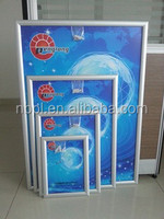 Aluminum high quality wall mounted snap frame,poster frame