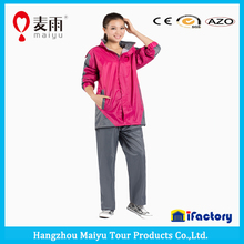 high quality durable waterproof clear plastic rain pant