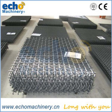 high quality 65Mn galvanized steel reinforcing woven screen wire mesh used in crushing plant station