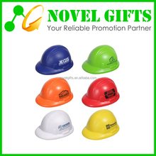 Promotion Gifts Safety Helmet Cap Shape PU Stress Reliever Ball