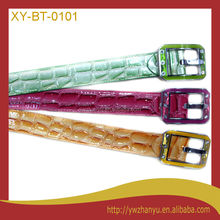 fashion pure snake shape style shiny leather waist belt