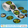 puffy logo self adhesive sticker paper