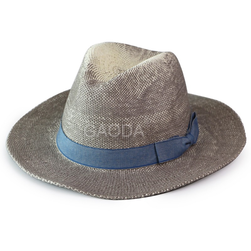 Fashion mens straw panama hat fedora panama straw hat