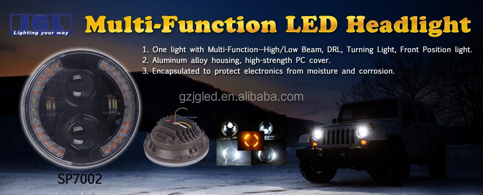 led fog light car accessories ip67 9-32v on road led headlight 18w led light