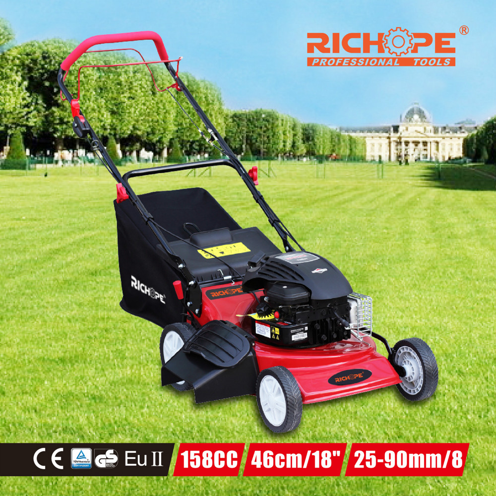 2016 new design with good quality chinese gasoline engine or B&S engine and CE GS 4WD tractor robot hand push lawn mower