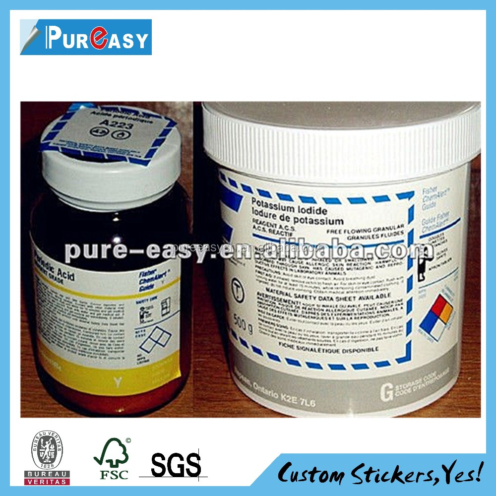 Customize waterproof actavis prometh cough syrup label sticker